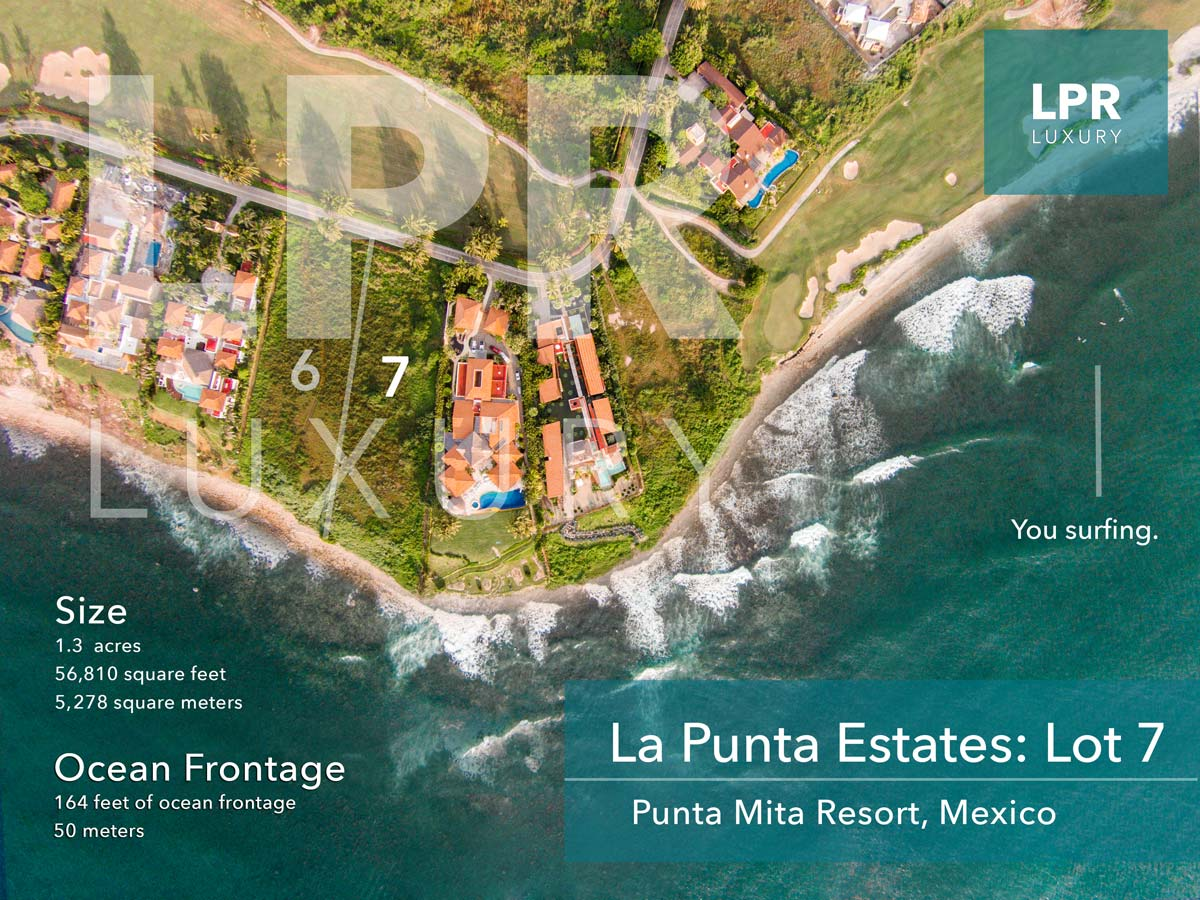 La Punta Estates - Lot 7 - Luxury real estate for sale and rent at the Punta Mita Resort, Riviera Nayarit, Mexico