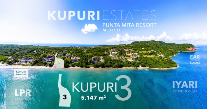 Kupuri Estates - Lot 3 - Punta Mita Resort luxury real estate - homesite beachfront residential resort low density community - real estate and vacation rentals