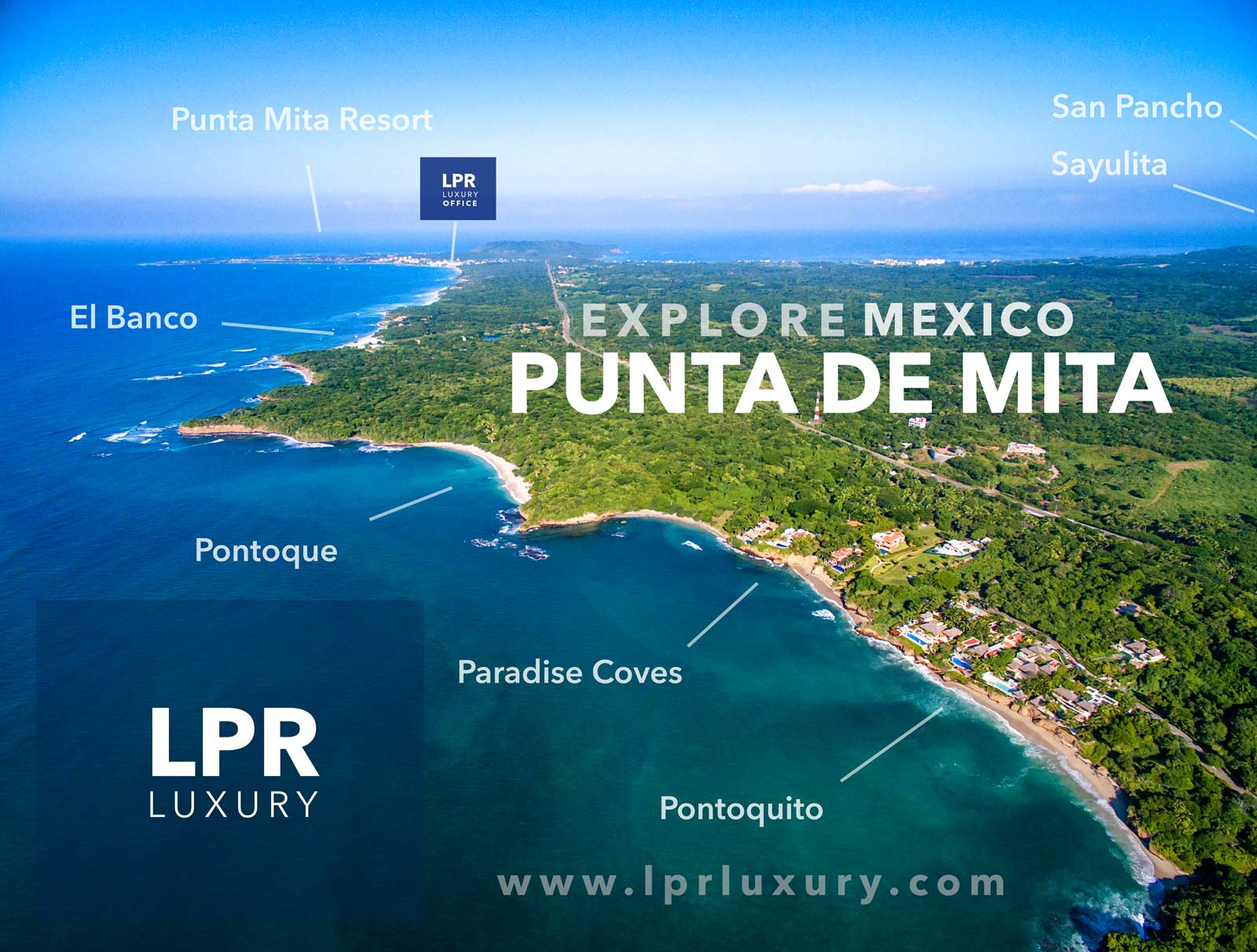 Explore for your dream home building lot with LPR Luxury. Land, luxury, leisure...Punta de Mita | Puerto Vallarta - Riviera Nayarit, Mexico